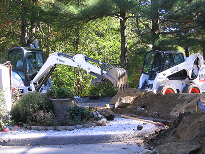 NH MA Landscape Construction Bobcat Work Excavation